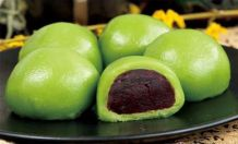 Eat these delicious red bean stuffed glutenous rice dumplings (I love these things!!)