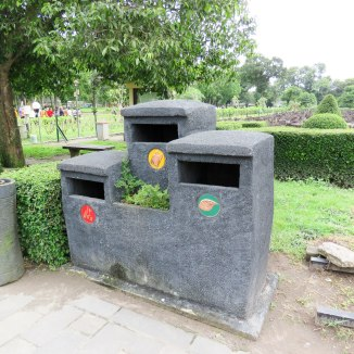 Neat garbage cans