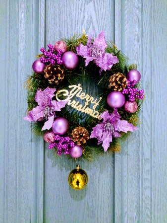 A purple wreath