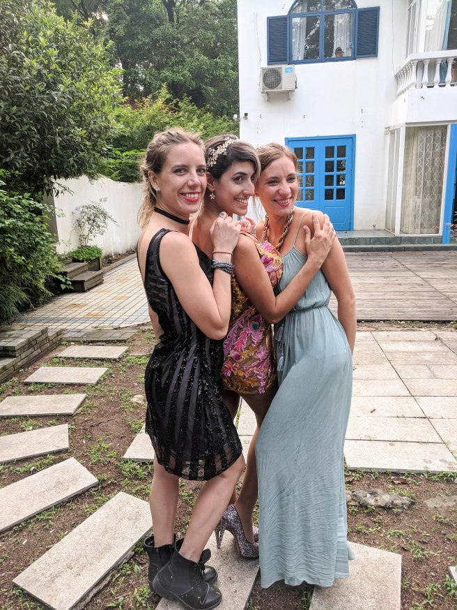 Friends travelled from France and Mexico to be there for the wedding