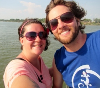 Cruising down the Mekong River looking for Irawaddy Dolphins