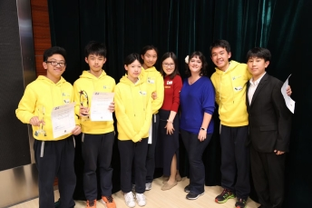 With the students at this year's spelling bee