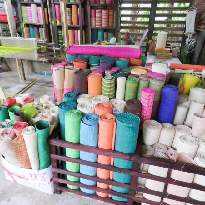 They also make textiles and art using plant based organic materials