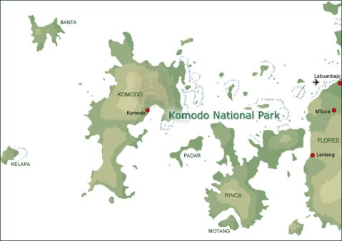 map-komodo-national-park