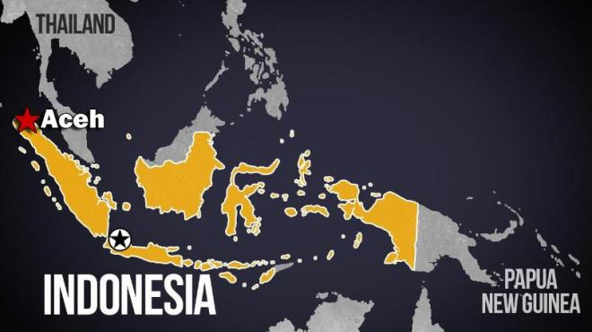 Aceh+Indonesia+earthquake+map