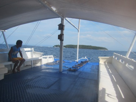 We spent 1500 pesos on the short boat ride to the island.