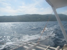 At least the boat was fast and big enough that we weren't sitting beside the engine, breathing in fumes!