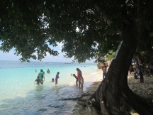 Mostly, the beach was full of families with little ones